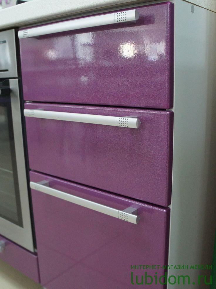 Кухни «Анастасия» тип 3 в цвете «Фиолетовый металлик» и «Фиолетовая Флора» | Серии модульной мебели для кухни по #лучшим #ценам | Купить #кухню и комплектующие | Каталог мебели от производителя «Любимый Дом» #lubidom