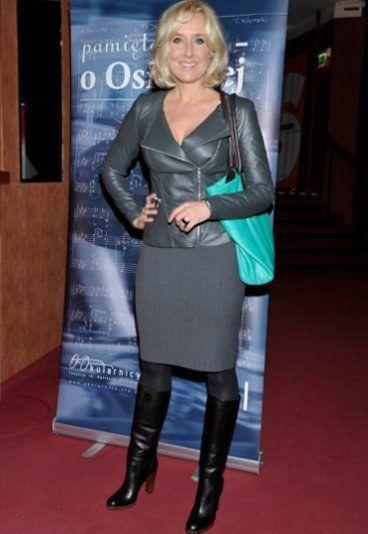 Agata Młynarska w skórzanym żakiecie #Aryton