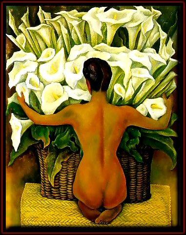 Desnudo con alcatraces. Diego Rivera. México