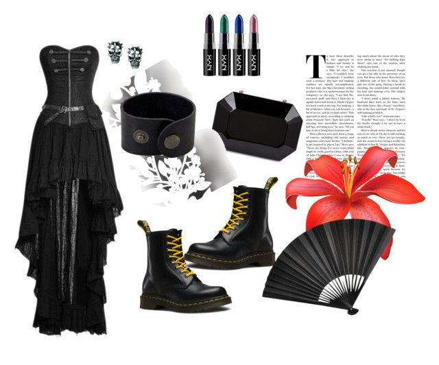 """dark beauty"" by shushkova784 on Polyvore featuring Dr. Martens и Élitis"