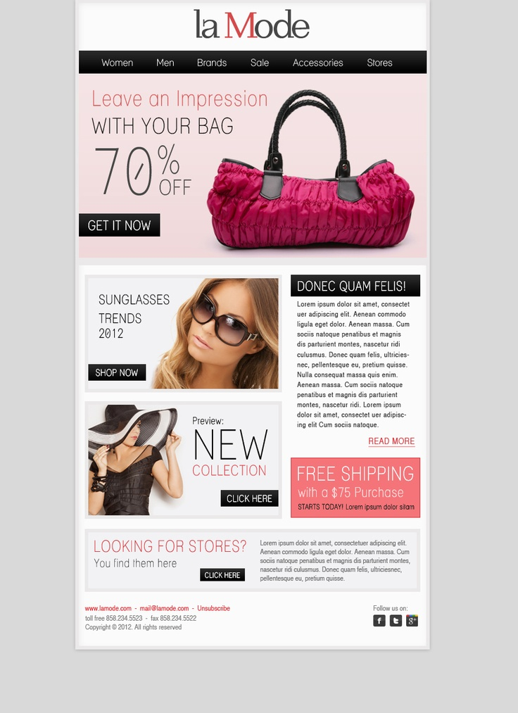 La Mode newsletter