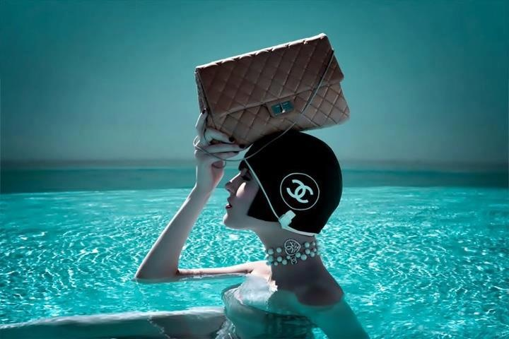 With Chanel you can always style location does not matter, beach, pool.