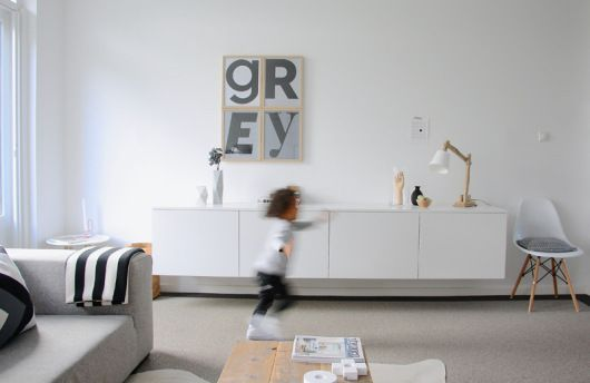 Monochrome Style in a Dutch Family Home