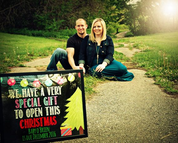 Pregnancy announcement for a christmas baby  by tinyfirststeps