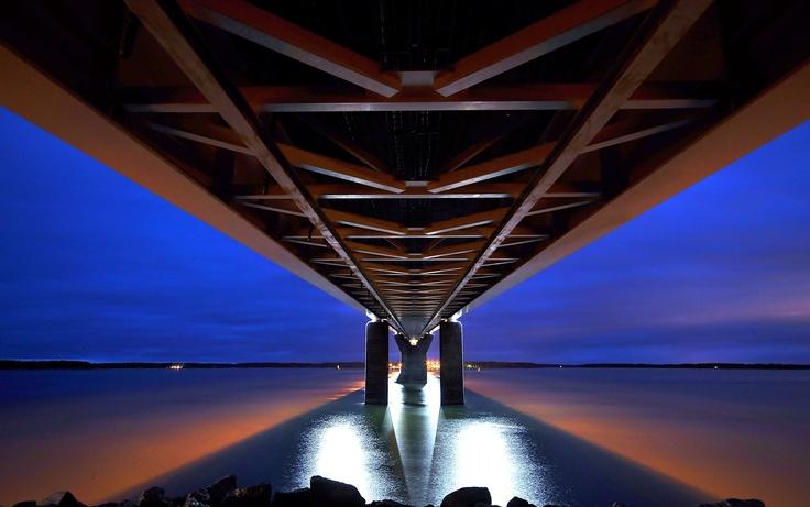 Raippaluoto, Vaasa. Quite big (long) bridge, pic was taken under of it