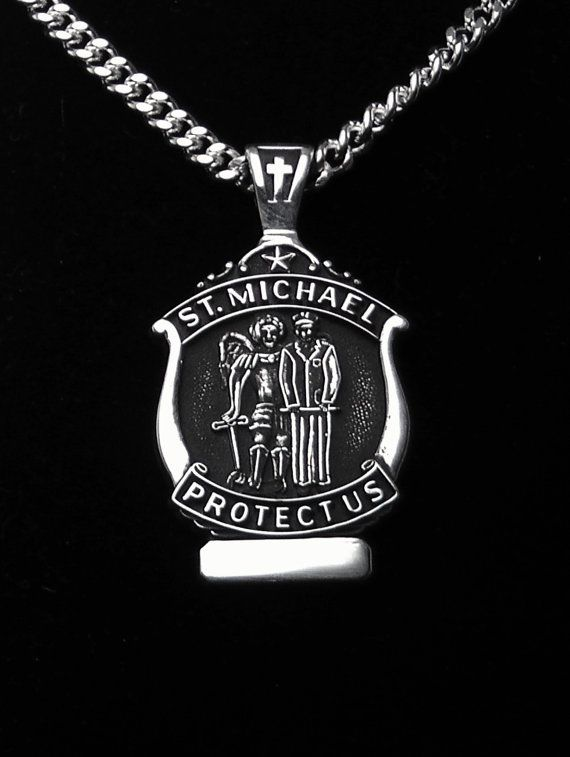 Hey, I found this really awesome Etsy listing at https://www.etsy.com/listing/180141954/st-michael-medal-sterling-silver-patron