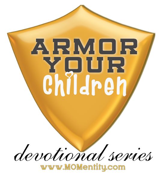 "Armor Your Children--a daily devotional series designed to help children learn important principles to put into practice daily; in other words, to put on their ""armor"" each day. Very short, and divided into weekly themes. This link is for the first month; you can link to the other months from the page this links you to."