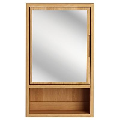 bathroom single mirrored cabinet