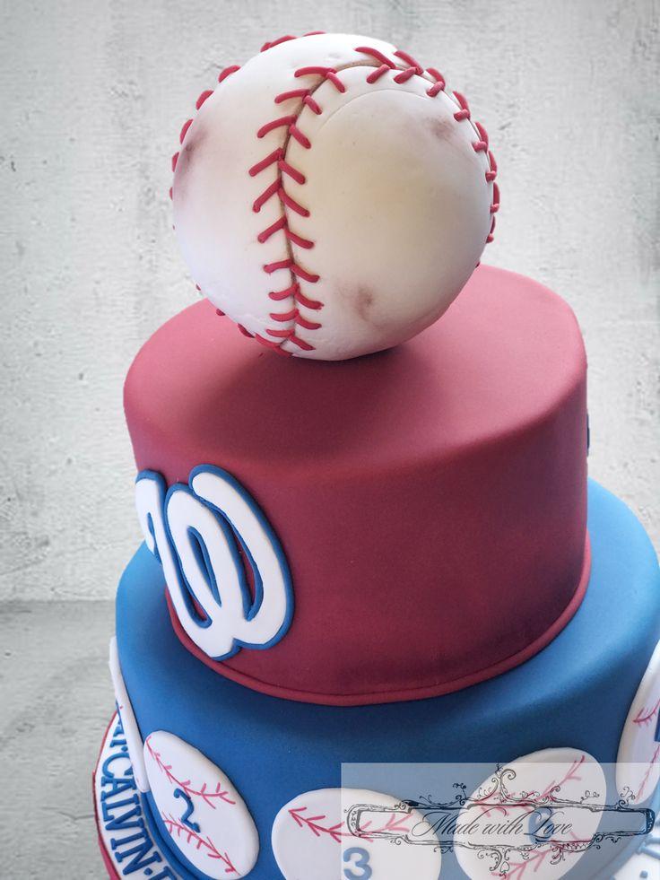 Washington Nationals Baseball Cake