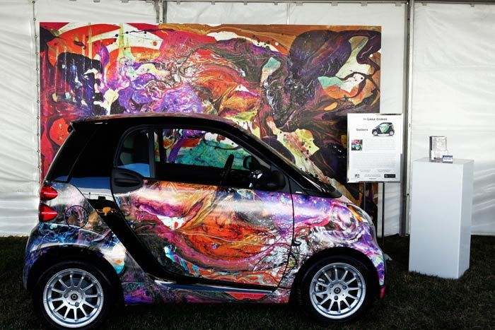 Los Angeles-based artist Lana Gomez used her specialization in large-scale paintings to create a wrap for a Smart car at...