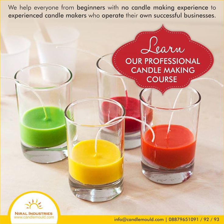 We help everyone from beginners with no candle making experience to experienced candle makers who operate their own successful businesses. Learn our Professional Candle Making Course.  Call Us: 08879651091 / 92 / 93  Visit Us: www.candlemould.com  #SiliconeCandleMoulds #Moulds #Beginners #Business #Professional #Course