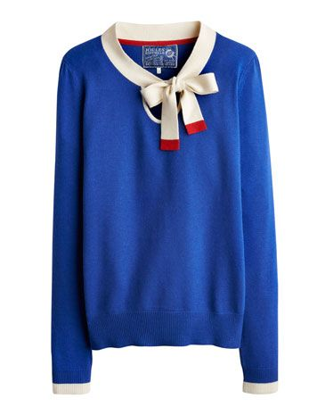 Joules null Womens Jumper, Dark Blue.                     Shipshape and chic, this jumper, complete with a sailor's bow, is perfect for sailing through the season in style.
