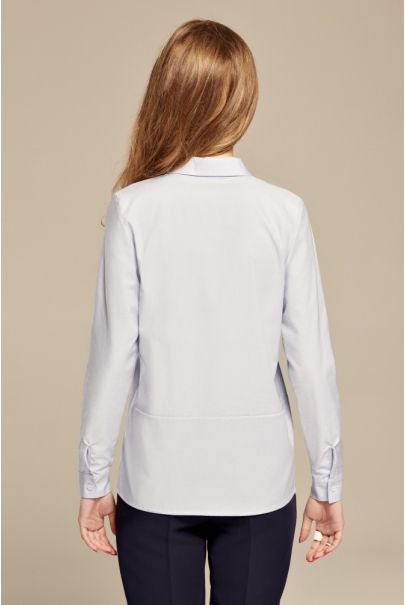 Błękitna koszula oversize z bawełny oxford