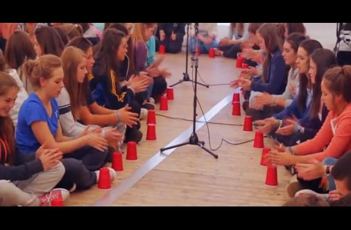 "600 Students In Ireland Play The ""Cups"" Song Together"