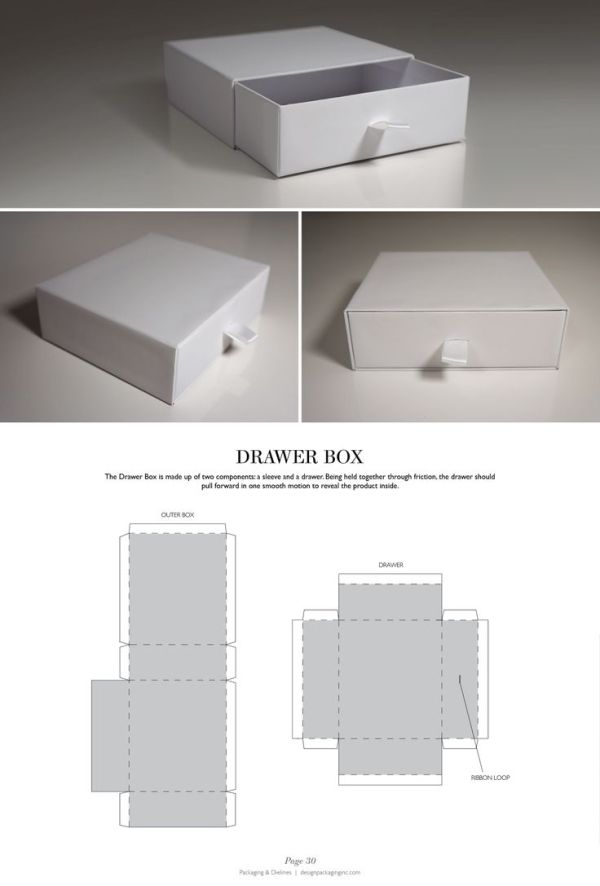 Drawer Box - Packaging & Dielines: The Designer's Book of Packaging Dielines by proteamundi