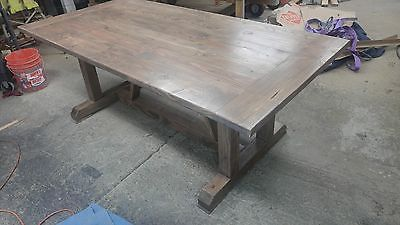 Dining Table, Farmhouse Wood Restoration Hardware Style Indoor Outdoor