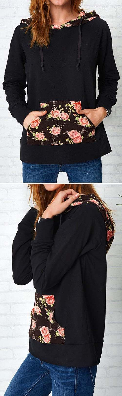 Only $25.99&free shipping! We love the romantic feel of this sweatshirt! High-quality with absolutely cozy feel! Get some flowers now. For more stylish items at Cupshe.com !
