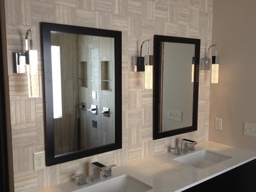 I like the tile - 17 Best Images About BATH - Backsplash Ideas On Pinterest