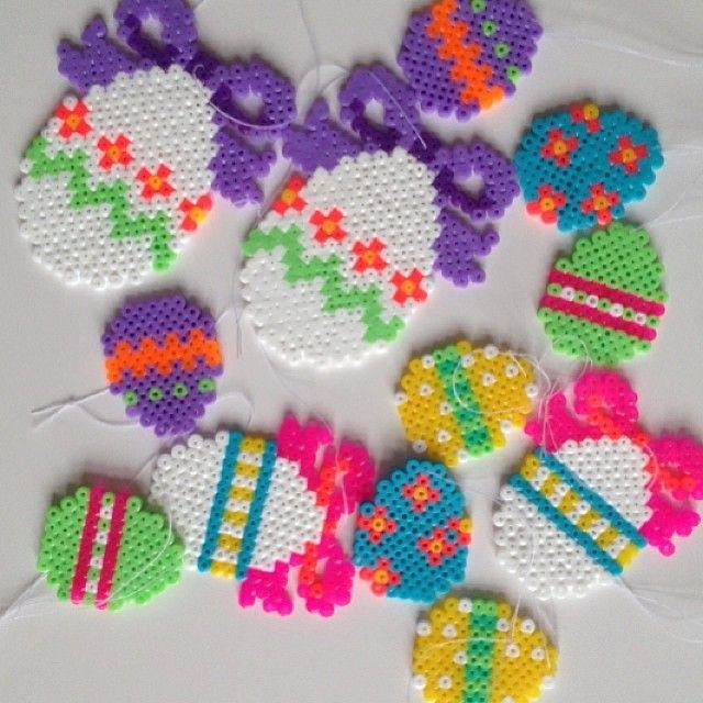 Easter eggs ornaments hama perler by galleripetz