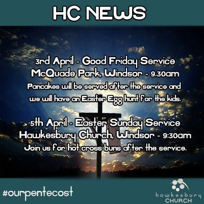 What's coming up at Hawkesbury Church