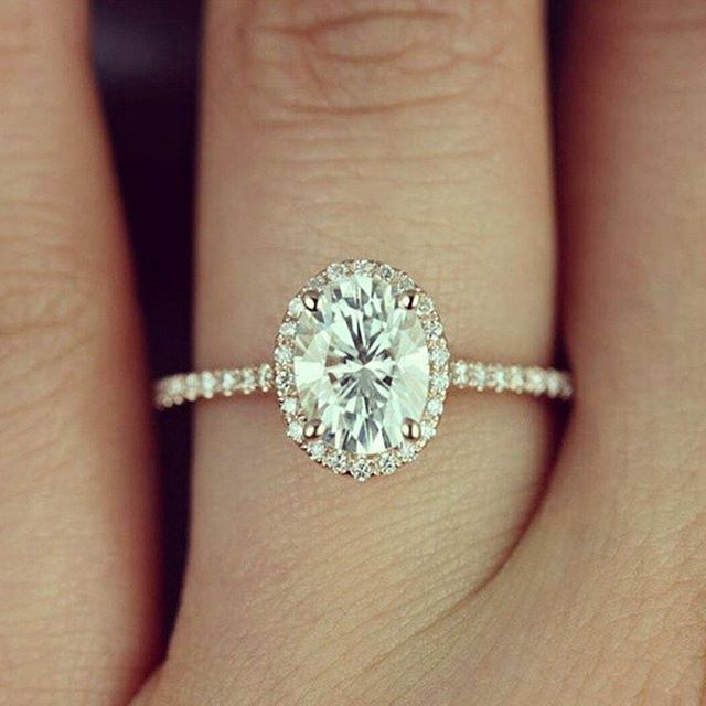 Next up is this classic engagement ring inspiration! It is a rose gold…