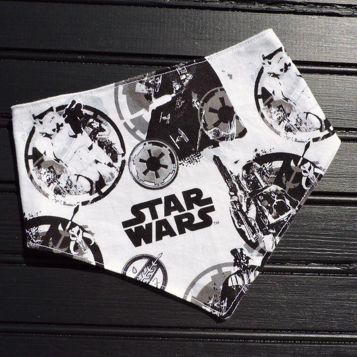 Handmade black & white star wars bibdana