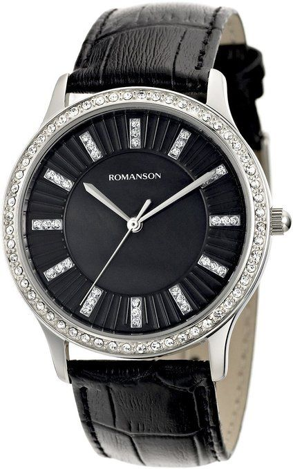 Women's Swiss Quartz Watch With Crystal Encrusted Bezel And Mother Of Pearl Dial