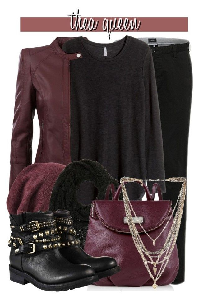 """""""Thea Queen (Arrow) -- Winter Wear"""" by evil-laugh ❤ liked on Polyvore featuring Morgan, Halogen, Charlotte Russe, Marc by Marc Jacobs, Ettika and Ash"""