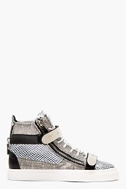 Lanvin Dentelle Salut-dessus Des Chaussures De Sport - Noir TYtPjMxxEE