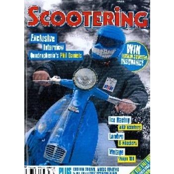 SCOOTERING ist ein Magazin für alle Fans von Vespa und Co. Es präsentiert neue Modelle, zeigt Möglichkeiten des Tunings oder des Reparierens in der eigenen Garage und bietet damit alles, was man rund um das beliebte Zweirad wissen muss