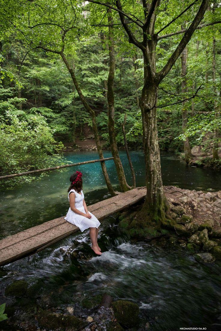 #bluewater #bluelake #rain #woodbridge #waterfall #forest #nature #green #whitedress
