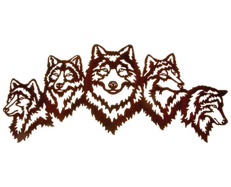 Rustic Metal Wall Decor 10 best wolf wall art images on pinterest | metal wall art, metal