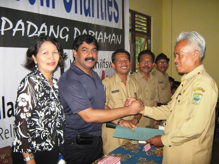 Construction of School for Earthquake victims in Padang and handing over documents