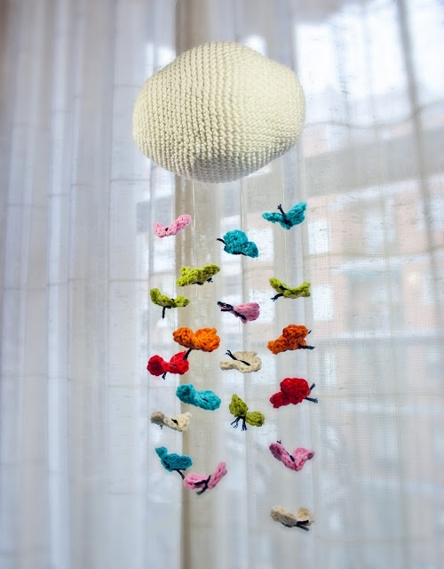 crochet butterfly mobile for new baby