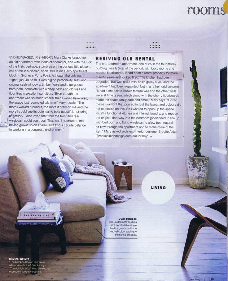 Real Living January/February 2014 Pg 4 Brooke Aitken Design