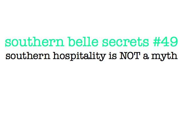 Southern hospitality is not a myth!Aint