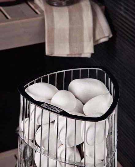 Uutta saunaan - valkoiset kivet kiukaalle - K-rauta