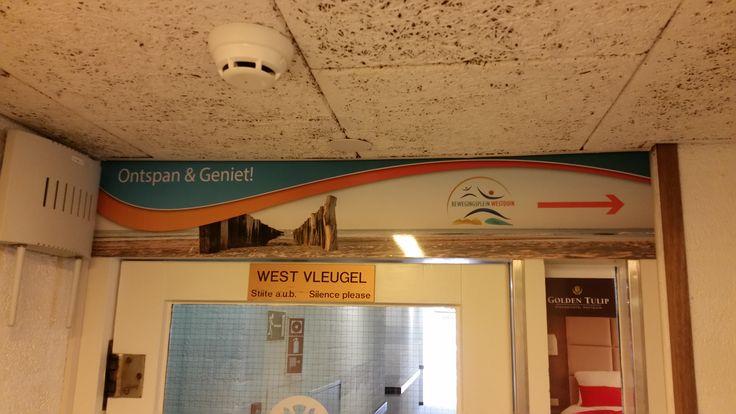 Ontwerp en realisatie bewegwijzering in het Golden Tulip Strandhotel Westduin naar Bewegingsplein Westduin
