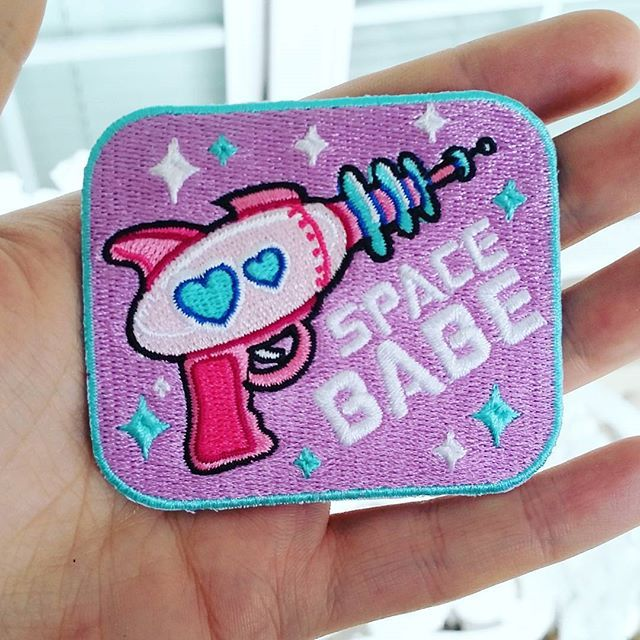 SPACE BABE ♥ patch - $6.00  http://sugarbones.storenvy.com/products/14891847-space-babe-patch