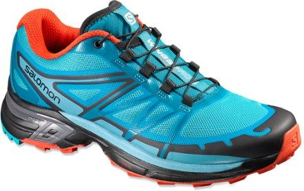 Women's Salomon Wings Pro 2 trail-running shoes deliver off-road confidence and protection underfoot on uneven terrain and when running downhill, providing added enjoyment on your trail adventures. Available at REI, 100% Satisfaction Guaranteed.