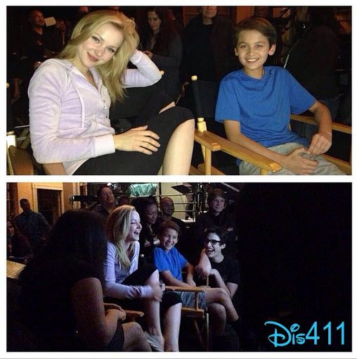 Photo: Tenzing Norgay Trainor With Dove Cameron And Joey Bragg April 11, 2014