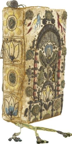 Bible; King James Version, Embroidered Binding, Florals & Birds, 1628.