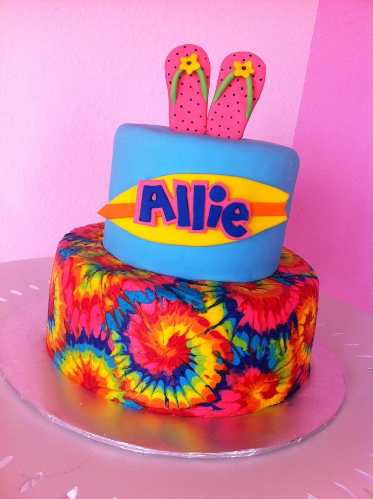 tie dye cake that i made cake ideas