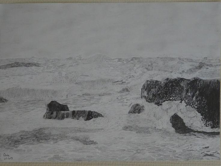 Biarritz - crayon graphite