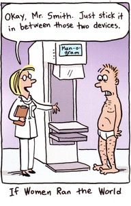 October is Breast Cancer Awareness Month - get your mammograms ladies! Here's a bit of humor to make it easier for you to get through it! http://www.gypsynester.com/funny-pages.htm