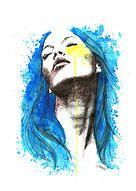 Ilustraciones| Blue Hair €200/ Jesús Cáceres