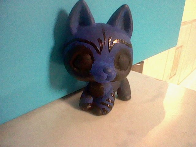 This is a blue demon. He is the servant of the Great Midnight Angel. I hope you like him!