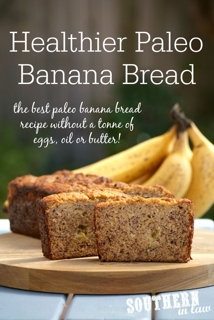 Healthier Paleo Banana Bread - lower fat, lower sugar, refined sugar free, gluten free, grain free, and does not contain a ton of eggs, oil or butter