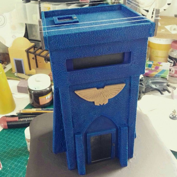 Ultramarine Control Tower. Still a work in progress but coming along I think. Might try a Jungle type base. What do you guys think? #workinprogress #ultramarine #spacemarine #warhammer #40k #gamesworkshop #tribalwish #hobbies #wip #warhammer40k #citadel #terrain #scenery #imperium #wip #tower #control #bunker #etsy #painted  www.etsy.com/shop/TribalwishHobbies