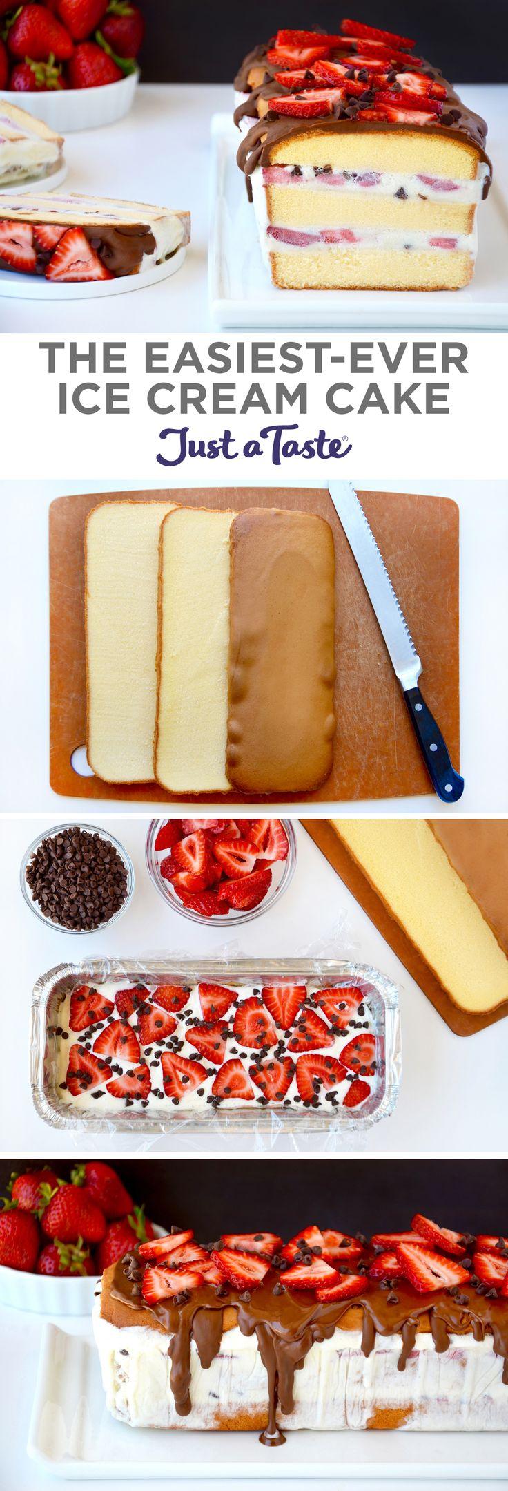 The Easiest-Ever Ice Cream Cake | recipe via justataste.com